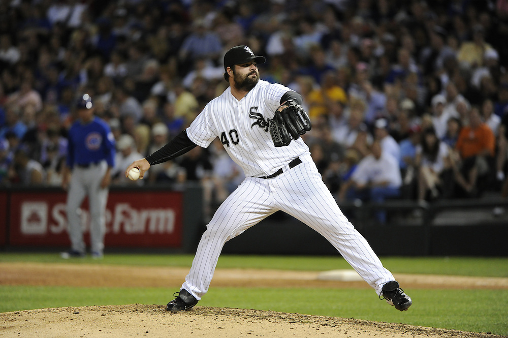 CHICAGO - JUNE 20:  Brian Bruney #40 of the Chicago White Sox pitches against the Chicago Cubs on June 20, 2011 at U.S. Cellular Field in Chicago, Illinois.  The Cubs defeated the White Sox 6-3.  (Photo by Ron Vesely)  Subject:  Brian Bruney