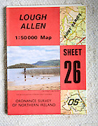 Discoverer series 1:50,000 ordnance survey map of Lough Allen, Northern Ireland sheet 26
