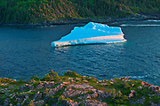 Iceberg  in La Scie Harbour off the Atlantic Ocean. Baie Verte Peninsula.<br />