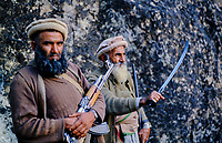 Afghanistan, vallée du Kunar, Moudjahidin combatant contre l'armée russe - 1984. // Afghanistan, Kunar valley, freedom fighter (moudjahidin) again russian army. 1984