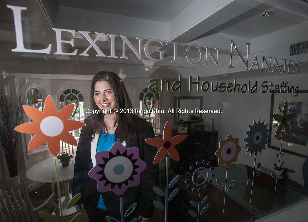 Brooke Barousse, owner of Lexington Nannies in Sherman Oak. (Photo by Ringo Chiu/PHOTOFORMULA.com)