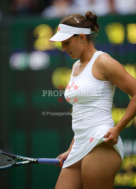 LONDON, ENGLAND - Wednesday, June 27, 2012: Tamira Paszek (AUT) during the Ladies' Singles 1st Round match on day three of the Wimbledon Lawn Tennis Championships at the All England Lawn Tennis and Croquet Club. (Pic by David Rawcliffe/Propaganda)