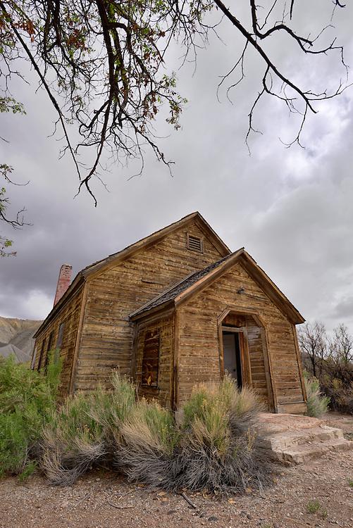 Old school in Caineville, Utah.