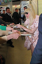 Lady Gaga arrives in Berlin. <br /> 60631443<br /> Lady Gaga arrives at Berlin-Tegel Airport, Berlin, Germany, Wednesday, 23rd October 2013. Picture by  imago / i-Images<br /> UK ONLY