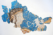 Mycenaean Fresco wall painting  from the Mycenae , Greece. 14th - 13th Century BC. Athens Archaeological Museum. .<br /> <br /> If you prefer to buy from our ALAMY PHOTO LIBRARY  Collection visit : https://www.alamy.com/portfolio/paul-williams-funkystock/mycenaean-art-artefacts.html . Type -   Athens    - into the LOWER SEARCH WITHIN GALLERY box. Refine search by adding background colour, place, museum etc<br /> <br /> Visit our MYCENAEN ART PHOTO COLLECTIONS for more photos to download  as wall art prints https://funkystock.photoshelter.com/gallery-collection/Pictures-Images-of-Ancient-Mycenaean-Art-Artefacts-Archaeology-Sites/C0000xRC5WLQcbhQ