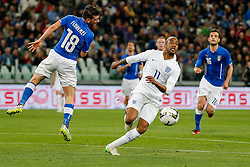 Fabian Delph of England in action - Photo mandatory by-line: Rogan Thomson/JMP - 07966 386802 - 31/03/2015 - SPORT - FOOTBALL - Turin, Italy - Juventus Stadium - Italy v England - FIFA International Friendly Match.