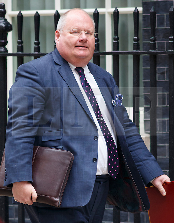 © Licensed to London News Pictures. 03/06/2014. LONDON, UK. Communities Secretary, Eric Pickles attending to a cabinet meeting in Downing Street on Tuesday, 3 June 2014. Photo credit: Tolga Akmen/LNP