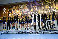 11.05.2013, BSFZ Suedstadt, Maria Enzersdorf, AUT, EHF, Cup der Cupsieger, Damen, Finale, Hypo Niederoesterreich vs Issy Paris Hand, im Bild die Mannschaft von Hypo Niederoesterreich// during the Final match of the EHF Women's Cup Winners' Cup between Hypo Niederoesterreich and Issy Paris Hand at the BSFZ Suedstadt, Maria Enzersdorf, Austria on 2013/11/05. EXPA Pictures © 2013, PhotoCredit: EXPA/ Sebastian Pucher