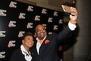 New York, NY-October 5:  (L-R) U.S. Congresswoman Barbara Lee and On-Air Personality Roland Martin attend the ColorOfChange.org's 10th Anniversary Gala held at Gotham Hall on October 5, 2015 in New York City.  Terrence Jennings/terrencejennings.com