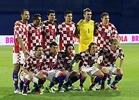 Fotball<br /> Kroatia v Israel<br /> 06.09.2011<br /> Foto: Gepa/Digitalsport<br /> NORWAY ONLY<br /> <br /> UEFA Europameisterschaft 2012, Qualifikation, Laenderspiel, Kroatien vs Israel. <br /> <br /> Bild zeigt die Mannschaft von CRO mit Darijo Srna, Mario Mandzukic, Niko Kranjcar, Luka Modric, Ivan Strinic (vorne); Josip Simunic, Ognjen Vukojevic, Vedran Corluka, Dejan Lovren, Stipe Pletikosa und Nikica Jelavic (CRO)<br /> Lagbilde Kroatia