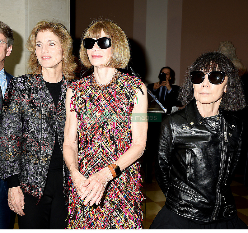 Caroline Kennedy,Anna Wintour and Rei  Kawakuboattends the Press Preview of Rei Kawakubo/Comme des Garcons: Art of the In-Between exhibit at The Costume Institute at the Metropolitan Museum of Art on May 1, 2017 in New York, New York, USA.  *** Please Use Credit from Credit Field ***