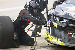 August 12, 2018 - Brooklyn, Michigan, United States of America - Gray Gaulding (99) brings his car down pit road for service during the Consumers Energy 400 at Michigan International Speedway in Brooklyn, Michigan. (Credit Image: © Chris Owens Asp Inc/ASP via ZUMA Wire)