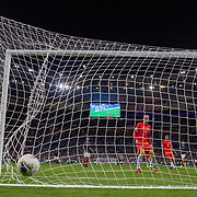 PARIS, FRANCE - September 10:   Ildefons Lima #6 of Andorra looks on as the ball hits the back of the net as Wissam Ben Yedder #10 of France scores his sides third goal in action during the France V Andorra, UEFA European Championship 2020 Qualifying match at Stade de France on September 10th 2019 in Paris, France (Photo by Tim Clayton/Corbis via Getty Images)