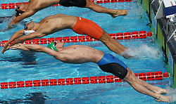 June 23, 2017 - Rome, Italy - Shane Ryan (IRL) competes in Men's 50m Backstroke during the international swimming competition Trofeo Settecolli at Piscine del Foro Italico in Rome, Italy on June 23, 2017..Photo Matteo Ciambelli / NurPhoto  (Credit Image: © Matteo Ciambelli/NurPhoto via ZUMA Press)
