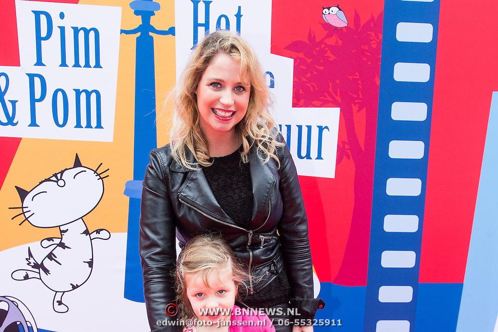 NLD/Amsterdam/20140405 - Filmpremiere Pim & Pom, Iris Hesseling en Loulou