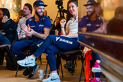 Sjinkie Knegt and Suzanne Schulting during the press conference for ISU World Cup Finals Shorttrack 2020 on February 12, 2020 in Museum Dordrecht.