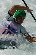 20040820 Olympic Games Athens Greece [Kayak Slalom Racing].Olympic Canoe/ Kayak Centre.Photo  Peter Spurrier..Images@intersport-images.com.Tel +44 7973 819551.