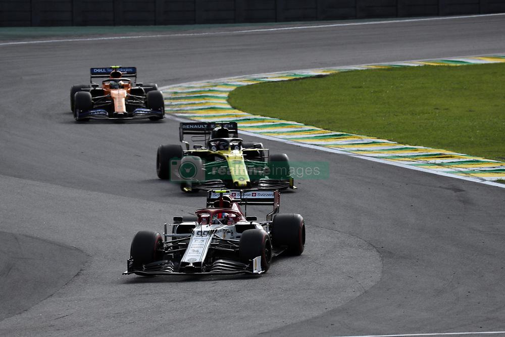 November 17, 2019, Sao Paulo, Brazil: xa9; Photo4 / LaPresse.17/11/2019 Sao Paulo, Brazil.Sport .Grand Prix Formula One Brazil 2019.In the pic: Antonio Giovinazzi (ITA) Alfa Romeo Racing C38, Daniel Ricciardo (AUS) Renault Sport F1 Team RS19 , Lando Norris (GBR) Mclaren F1 Team MCL34 (Credit Image: © Photo4/Lapresse via ZUMA Press)
