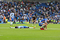 Football - 2021 / 2022 Premier League - Brighton & Hove Albion vs Everton - Amex Stadium - Saturday 28th August 2021<br /> <br /> Yves Bissouma of Brighton lays out flat on the floor after losing for the first time this season at The Amex Stadium Brighton <br /> <br /> COLORSPORT/Shaun Boggust