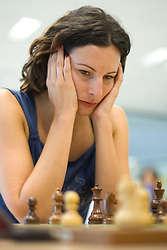 Slovenian Grandmaster Jana Krivec in action during the National Chess Championships in Ljubljana on August 9, 2010.  (Photo by Vid Ponikvar / Sportida)