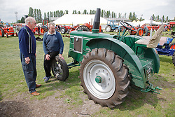 Looking at  old tractor at Newark Show 2009