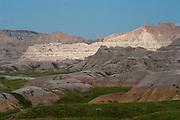 View of Badlands National Park, South Dakota, August, 2011
