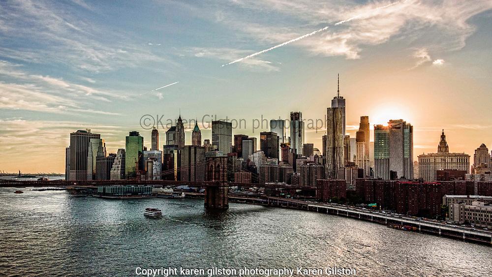 NYC sunset over Manhattan