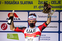 Diego ULISSI of UAE TEAM EMIRATES at trophy ceremony during the 5th Stage of 27th Tour of Slovenia 2021 cycling race between Ljubljana and Novo mesto (175,3 km), on June 13, 2021 in Slovenia. Photo by Matic Klansek Velej / Sportida