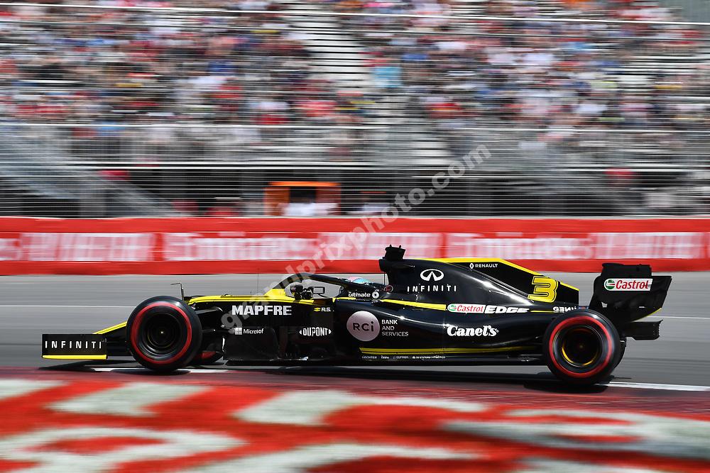 Daniel Ricciardo (Renault) during practice for the 2019 Canadian Grand Prix in Montreal. Photo: Grand Prix Photo