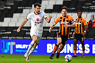 MK Dons' Midfielder Scott Fraser (10) and Hull City midfielder Richie Smallwood (6) during the EFL Sky Bet League 1 match between Milton Keynes Dons and Hull City at stadium:mk, Milton Keynes, England on 21 November 2020.