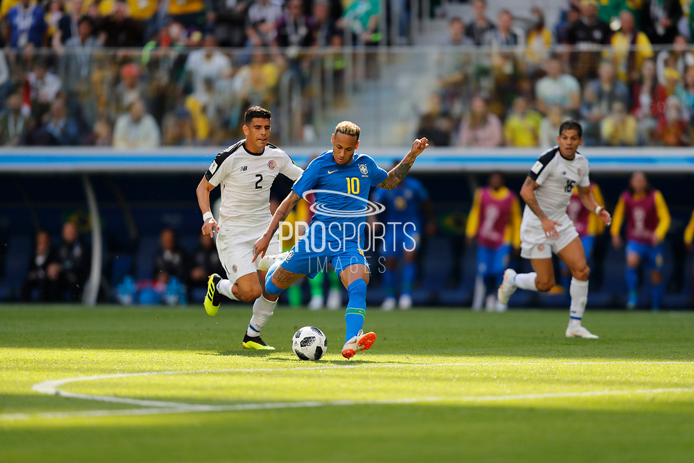 Neymar of Brazil during the 2018 FIFA World Cup Russia, Group E football match between Brazil and Costa Rica on June 22, 2018 at Saint Petersburg Stadium in Saint Petersburg, Russia - Photo Tarso Sarraf / FramePhoto / ProSportsImages / DPPI