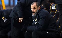 Wolverhampton Wanderers manager Nuno Espirito Santo during the Premier League match at Molineux, Wolverhampton.