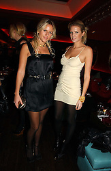 Left to right, sisters OLYMPIA SCARRY and FIONA SCARRY at a party hosted by Camilla Al Fayed, Charlotte Stockdale and Patrick Cox in aid of the Evelina Children's Hospital Trust held at th Burlington Club, New Burlington Street, London on 12th December 2006.<br /><br />NON EXCLUSIVE - WORLD RIGHTS