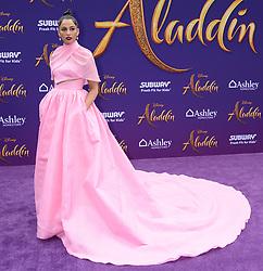 Aladdn World Premiere. 21 May 2019 Pictured: Mena Massoud and Naomi Scott. Photo credit: MEGA TheMegaAgency.com +1 888 505 6342