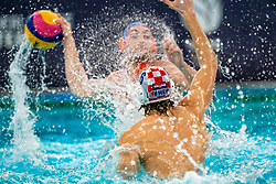 Luka Bukic of Croatia during the Olympic qualifying tournament. The Dutch water polo players are on the hunt for a starting ticket for the Olympic Games on February 15, 2021 in Rotterdam