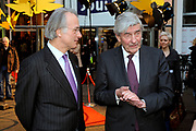 Opening Movies that Matter Festival.The Movies that Matter Festival is an initiative of the Dutch section of Amnesty International.On Thursday April 2nd 2009 her Royal Highness Princess Mabel, director of The Elders, will open our international festival on Peace and Justice in the International City of Peace and Justice.<br /> <br /> On the Photo:  Ruud Lubbers