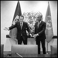 President  of Haiti, Michel Joseph Martelly, with United Nations Secretary General Ban Ki moon.