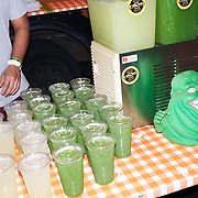 A food truck vendor selling green lemonade at the 2021 New York Comic Con at the Javits Center in Manhattan, New York on Thursday, October 7, 2021. John Taggart for The New York Times