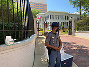 "6/6/2020 Jackson MS. <br /> The Mississippi State Highway Patrol stands guard outside the Governors mansion and hands out masks at a peaceful protest by Black Lives Matter.  She spoke of a change that is sweeping across the world, to end systematic racism and police brutality. As a black woman  in America she said how could she not be there in support.<br /> <br /> Protestors of all ages and races gathered out side the Governor Mansion after a peaceful protest by Black Lives Matter, organized by 18 yr old student Maisie Brown.   As the crowd chanted ""I can't breathe "" check his pulse.""   and "" justice for George Floyd, in addition to "" no justice No Peace in the 90 degree heat. Photo© Suzi Altman<br /> <br /> Student Maisie Brown 18yrs old from Jackson organized a peaceful protest outside the Governors Mansion. She said there voices would be heard and her face would be seen- change is coming. The protest was in honor of George Floyd and in support of ending systematic racism and to end police brutality in Mississippi and America. The National Black Panthers Party from Tupelo Mississippi showed up outside the Governors mansion in the shadow of the State Capitol to protest police brutality. The National Black Panthers Party was their to show their support for change in Mississippi, to end systemic racism and police brutality. Protests have broken out around the world in solidarity to end white supremacy and police brutality. The Panthers showed up at the end of a peaceful protest organized by 18yr old student Maisie Brown. The brutal murder of African American George Floyd by the knee and hands of 4 former Minneapolis Minnesota police officers has sparked a cry for justice and reform around the world. Photo copyright © Suzi Altman @suzialtman #mississippi #blm #blacklivesmatter #protest #icantbreathe #georgefloyd #endracism #policebrutality #documentary #history #suzialtman #iphonography #shotoniphone #zumapress #NBPP #panthers #blackpanthers #nationalblackpantherparty"
