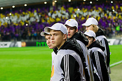 Ball boys during football match between NK Maribor and Sevilla FC (ESP) in 1st Leg of Round of 32 of UEFA Europa League 2014 on February 20, 2014 at Stadium Ljudski vrt, Maribor, Slovenia. Photo by Vid Ponikvar / Sportida