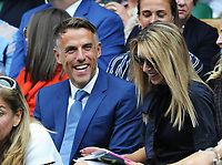 Tennis - 2019 Wimbledon Championships - Week Two, Tuesday (Day Eight)<br /> <br /> Women's Singles, Quarter-Final: Alison Riske (USA) vs. Serena Williams (USA)<br /> <br /> England Women's Manager, Phil Neville in the Royal Box, on Centre Court.<br /> <br /> COLORSPORT/ANDREW COWIE