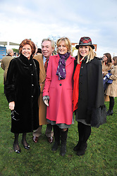 Left to right, CILLA BLACK, ANDREW & MADELEINE LLOYD WEBBER and AMANDA HOLDEN at the 2012 Hennessy Gold Cup at Newbury Racecourse, Berkshire on 1st December 2012