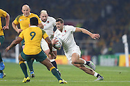 Jonny May of England running with the ball. Rugby World Cup 2015 pool A match, England v Australia at Twickenham Stadium in London, England  on Saturday 3rd October 2015.<br /> pic by  John Patrick Fletcher, Andrew Orchard sports photography.