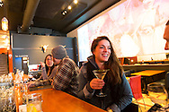 Le Cercle, a hip restaurant and performance venue located in the Nuovo Saint Roch district of Quebec City has a lively bar, a restaurant that features locally sourced ingredients and an extensive wine cellar.