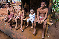 The Palawano tribal people, also known as the Palawan or the Pala'wan tribe, are an indigenous ethnic group in Palawan. Palawanos have not been very assimilated into Filipino society and few speak Tagalog. Typically they keep to themselves in thier mountainous enclaves. Palawanos are a  vulnerable tribe because they lack basic education even today.  Activists claim that the government wants to keep the Palawan tribe in a primitive state as a tourist attraction. The Palawano diet is made up of rice, bananas, cassava, breadfruit, pork from wild pig, fruit andfreshwater fish.