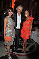 Left to right, JACKIE ST.CLAIR, CARL MICHAELSON and MYLEENE KLASS at the 50th birthday party for Jonathan Shalit held at the V&A Museum, London on 17th April 2012.