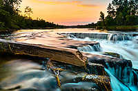 I've created many images of these falls over the years.  I just can't keep away and I get the urge to go back there every time we go to the cottage.  There are so many different ways to make images at the falls that I really don't even have two similar images.  I reall love the soft light that wraps around the area at sunset and this is one of my favorite places to photograph...©2010, Sean Phillips.http://www.RiverwoodPhotography.com