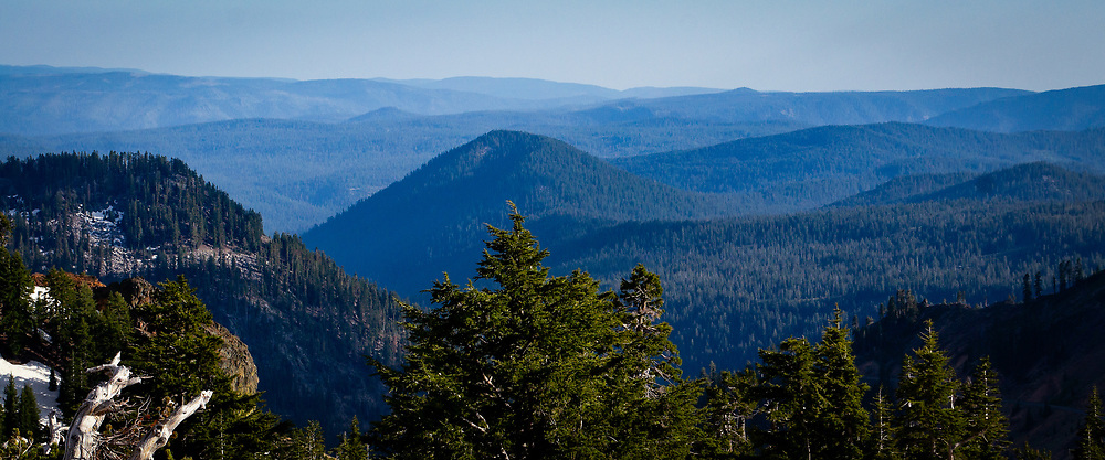 Looking Southeast from Mt. Lassen Volcanic National Park, California