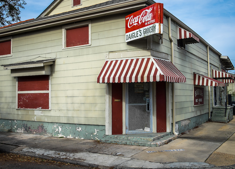 NEW ORLEANS - CIRCA FEBRUARY 2014: View of a typical storefront facade in Algiers Point, a popular community within the city of New Orleans in Louisiana.