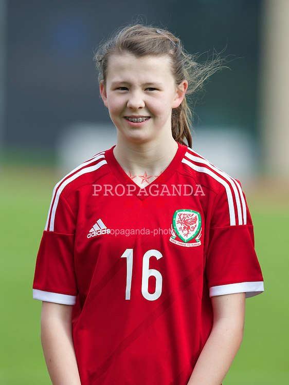 REPTON, ENGLAND - Thursday, April 17, 2014: Wales' Lauren Thomas (Hawarden High School) lines-up to face Northern Ireland during the final Bob Docherty International Tournament match at Repton School. (Pic by David Rawcliffe/Propaganda)